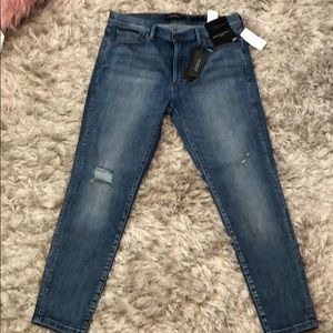 Medium wash banana republic skinny jeans